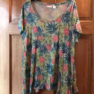 2X fun pineapple summer fun top